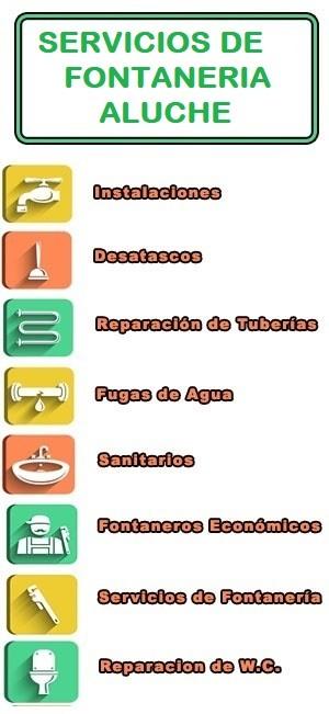 servicios de fontaneria en Aluche