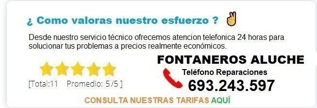 Fontanero Aluche precio